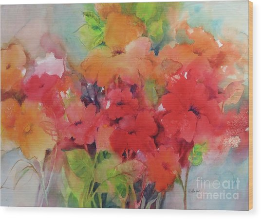 Flowers For Peggy Wood Print
