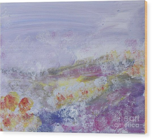 Flowers In The Ether Wood Print