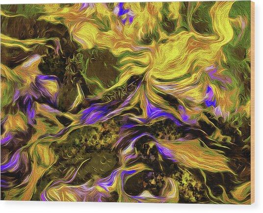 Flowers In The Garden Wood Print