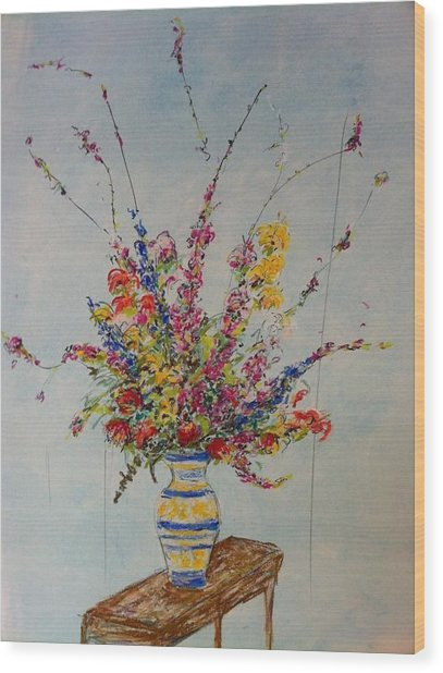 Flowers Wood Print by Marcia Nebera