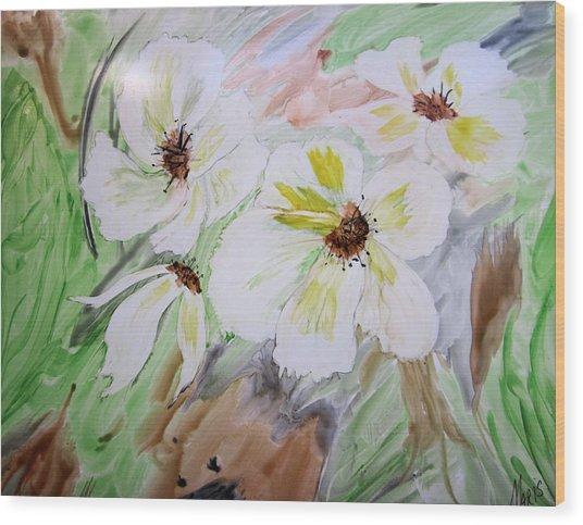 Flowers Wood Print by Maris Sherwood