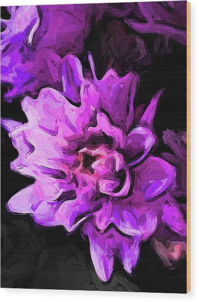 Flowers Of Lavender And Pink 1 Wood Print