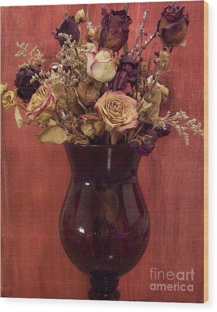Flowers Of Love Wood Print by Marsha Heiken