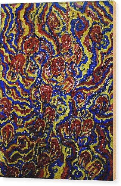 Flowers Of The Volcano Wood Print by Brenda Adams