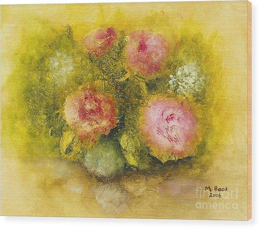 Flowers Pink Wood Print
