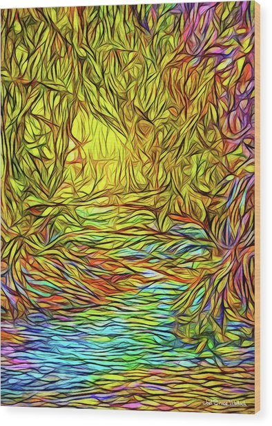 Flowing River Vision Wood Print