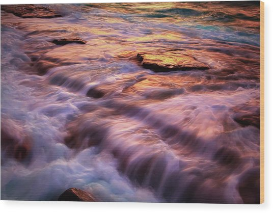 Flowing Tide Wood Print