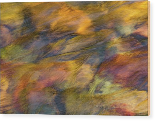 Wood Print featuring the photograph Flowing Waters Luminescence by Leland D Howard