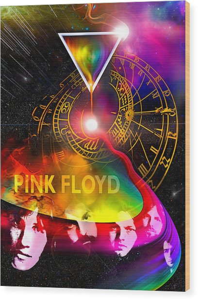 Floyd Time Wood Print