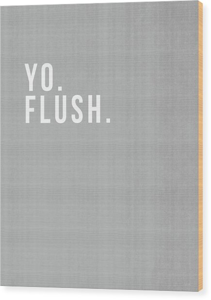 Flush- Art By Linda Woods Wood Print