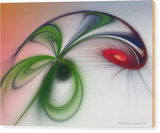 Flutter Wood Print by Sandra Bauser Digital Art