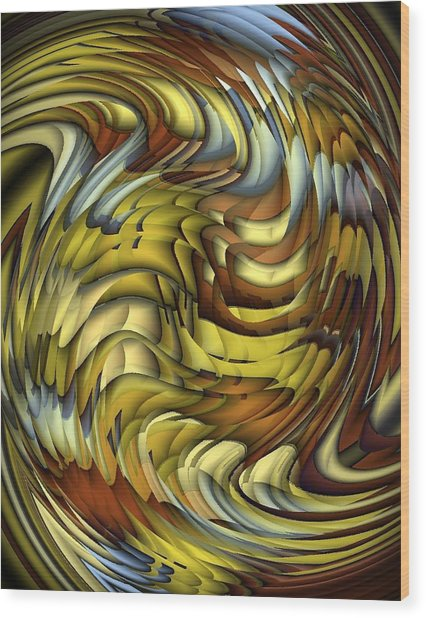 Flutter Wood Print by Terry Mulligan