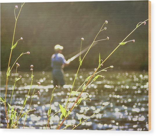 Fly Fishing Wood Print by JAMART Photography