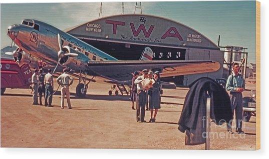 Fly Twa The Lindberg Line By Henry Bosis Wood Print