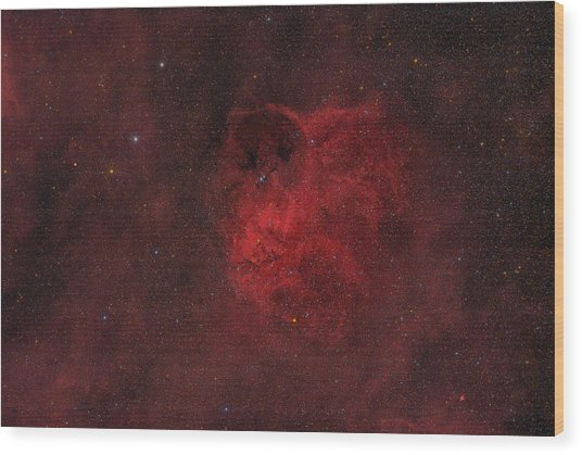 Flyihng Owl Nebula Wood Print by Brian Peterson