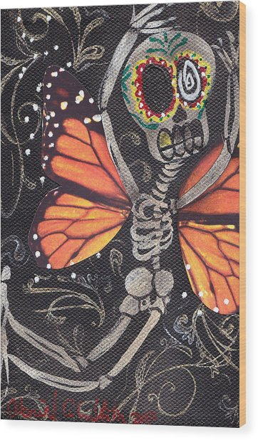 Flying Away Wood Print by  Abril Andrade Griffith