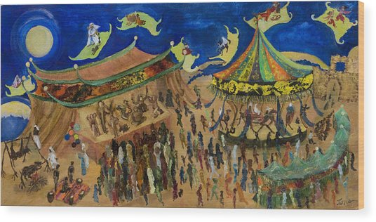 Flying Carpets Wood Print by Ione Citrin