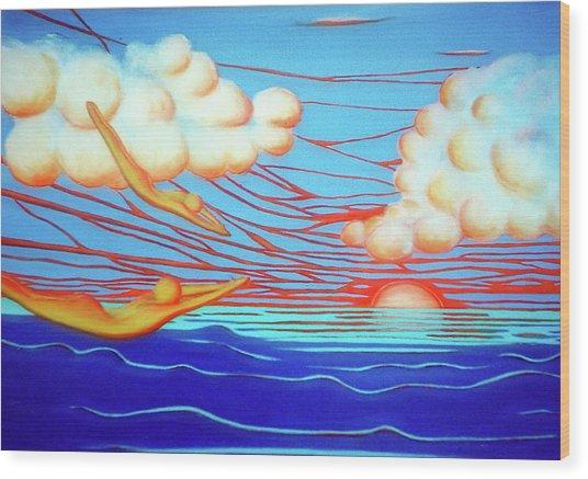 Flying Dream 3 Wood Print by Barbara Stirrup