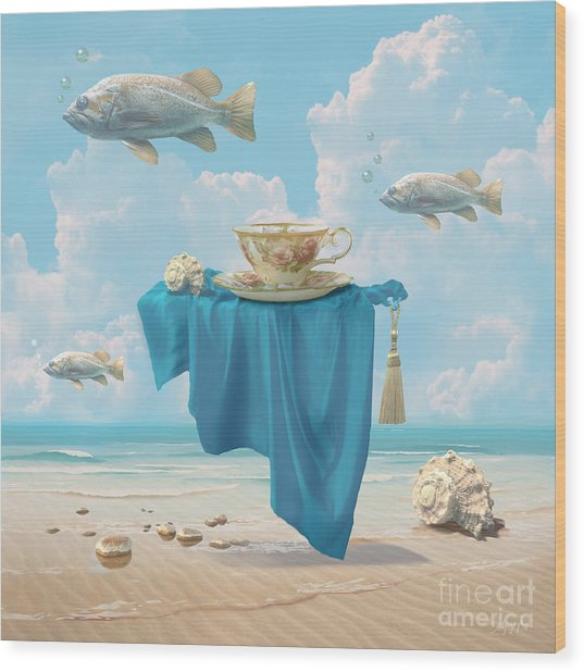 Flying Fish Wood Print