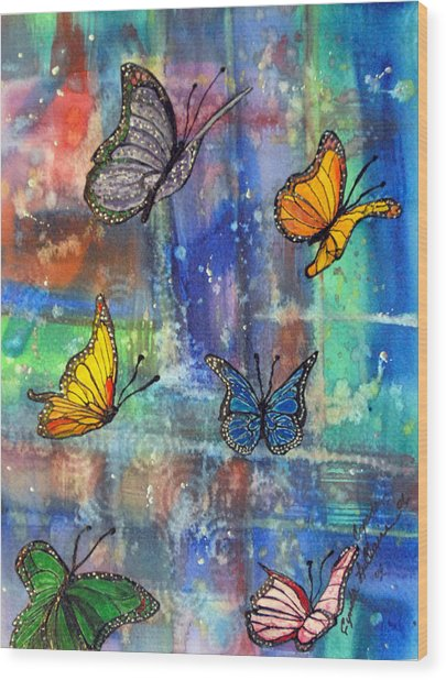 Flying Free Wood Print by Cynda LuClaire