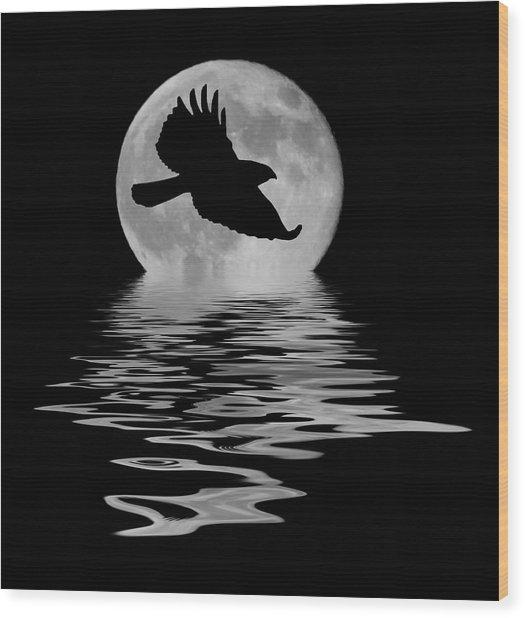 Flying Hawk 1 Wood Print