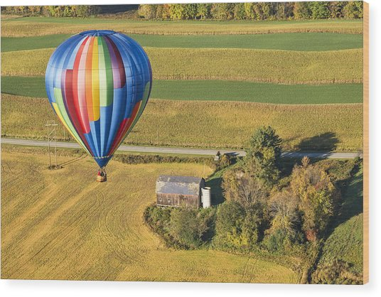 Flying Hight Over New York State Wood Print
