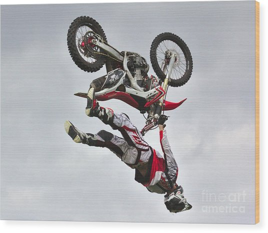 Wood Print featuring the photograph Flying Inverted by Jeremy Hayden