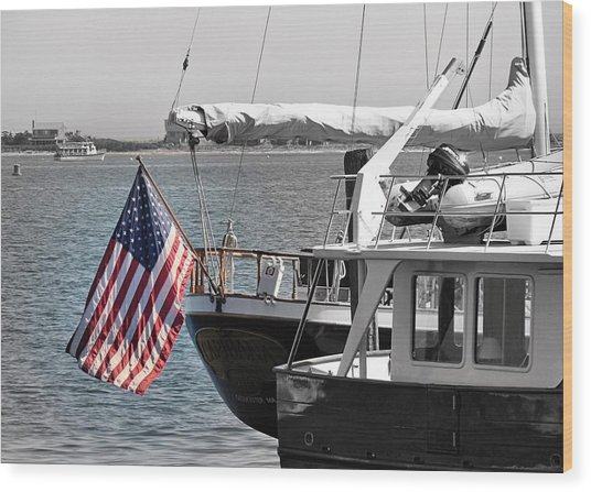 Flying Our Stars And Stripes Wood Print