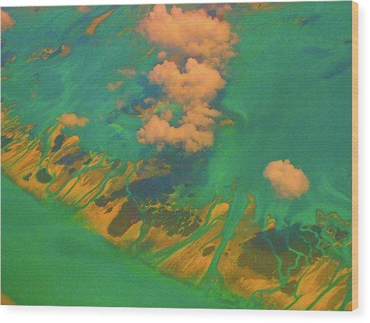 Flying Over The Keys, Florida Wood Print