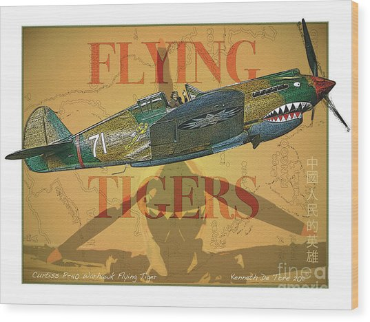 Flying Tigers Wood Print