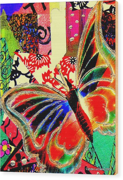 Flying Toward The Light Wood Print by Cynda LuClaire