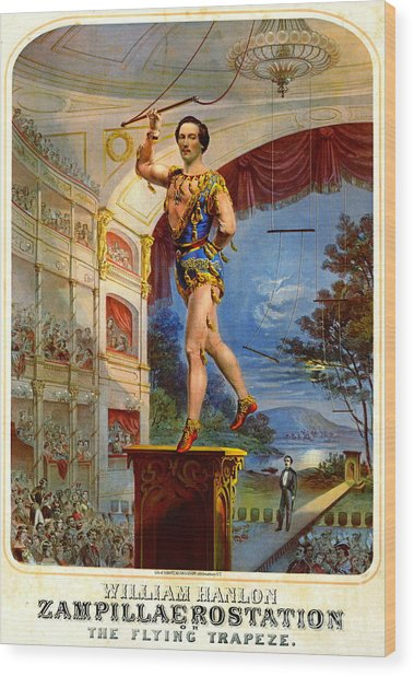 Flying Trapeze 1850 Wood Print