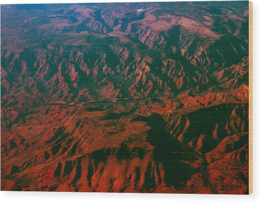 Flying West Wood Print