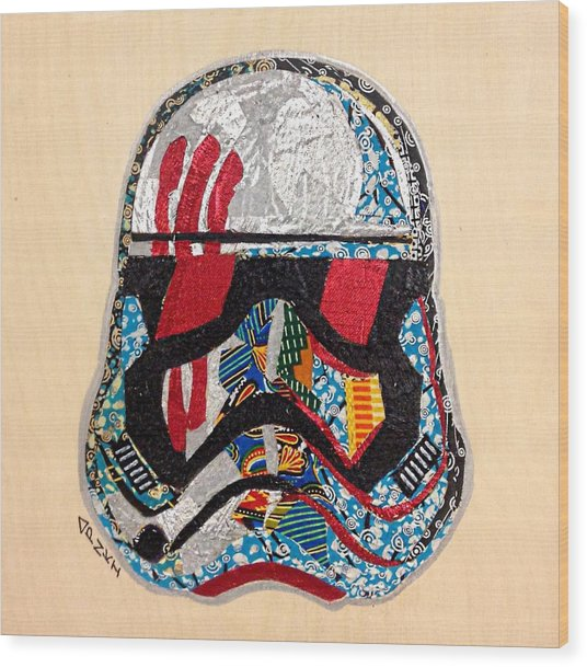 Storm Trooper Fn-2187 Helmet Star Wars Awakens Afrofuturist Collection Wood Print