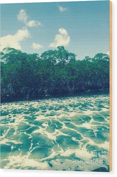 Foamy Water Wood Print