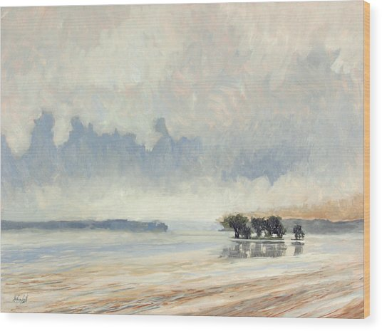 Fog Between The Storms Wood Print by Anthony Sell
