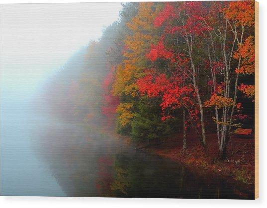 Clearing Fog Wood Print