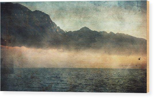 Fog On Garda Lake Wood Print