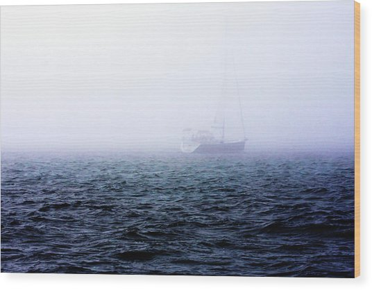 Fog On The Bay 1 Wood Print by Alan Hausenflock