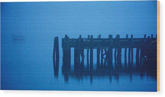 Shrouded In Fog, Morro Bay Wood Print