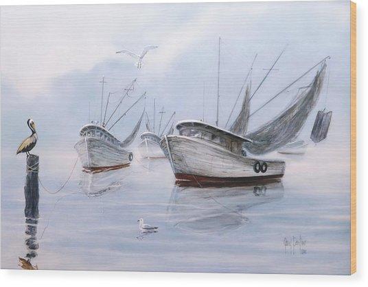 Foggy Morn' Wood Print