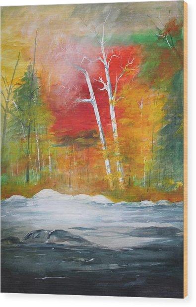 Foggy Morning 2 Wood Print by Julie Lueders