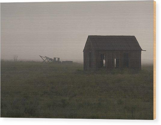 Foggy Morning  Wood Print by John Higby