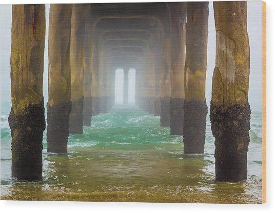 Coastal Fog Wood Print