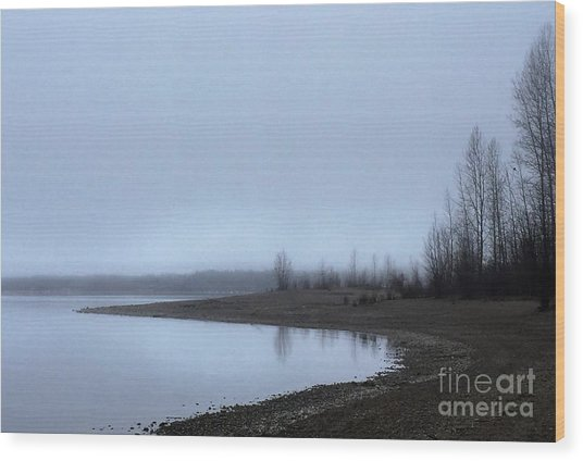 Foggy Water Wood Print