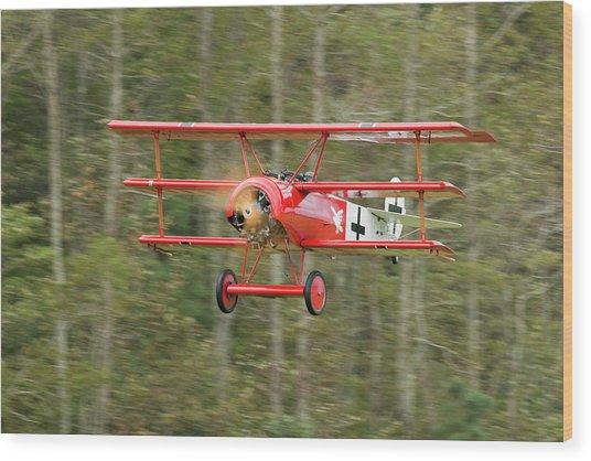 Fokker Dr.i Flyby Wood Print by Liza Eckardt