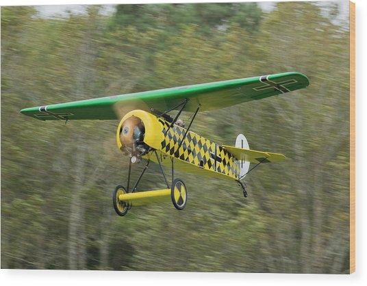 Fokker D.viii Taking Off Wood Print by Liza Eckardt
