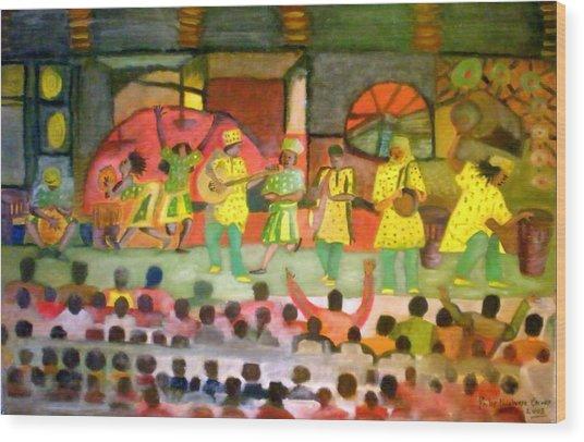 Folk Play Wood Print by Philip Okoro