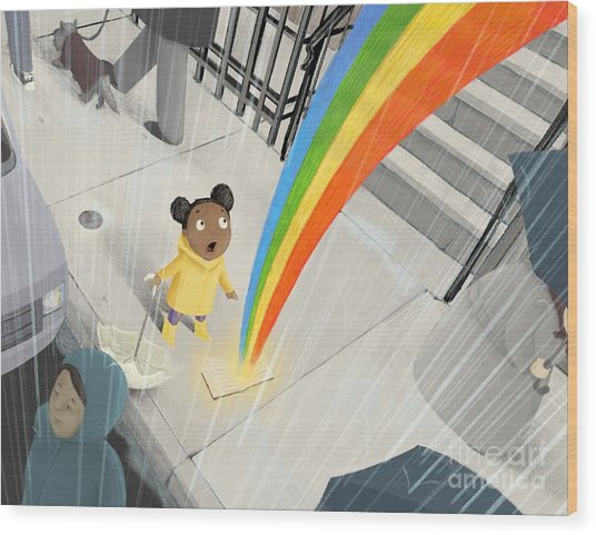 Follow Your Rainbow Wood Print