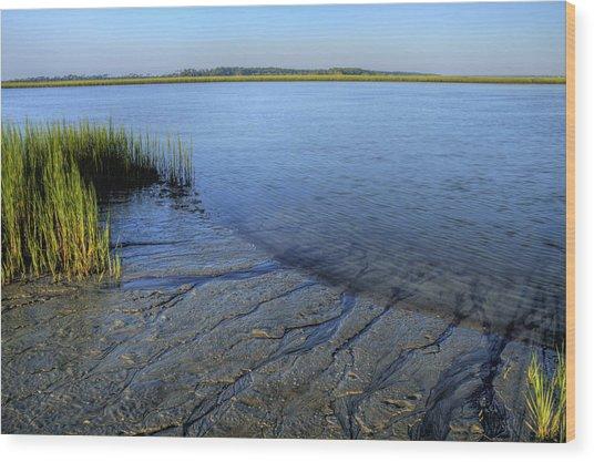 Folly Beach Marsh  Wood Print